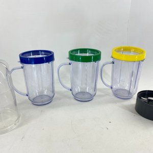 Magic Bullet Lot of 8 Extra Parts Accessories Cups